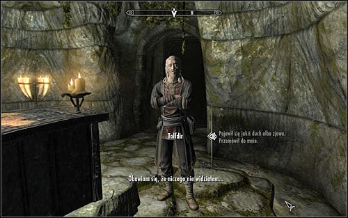 Tolfdir should approach you and start the conversation himself, though his first question will be quite general as he hasnt witnessed any vision himself - Under Saarthal - p. 1 - College of Winterhold quests - The Elder Scrolls V: Skyrim Game Guide