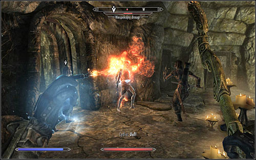 Here you will have to fight Draugrs once again, though this time most of them should be of the standard type - Under Saarthal - p. 1 - College of Winterhold quests - The Elder Scrolls V: Skyrim Game Guide