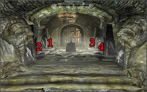 Destroying both traps will let you access the room with another puzzle - Under Saarthal - p. 2 - College of Winterhold quests - The Elder Scrolls V: Skyrim Game Guide