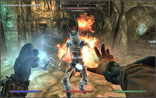 Start attacking the boss only after Tolfdir tells you that he was able to weaken Jyrik - Under Saarthal - p. 2 - College of Winterhold quests - The Elder Scrolls V: Skyrim Game Guide