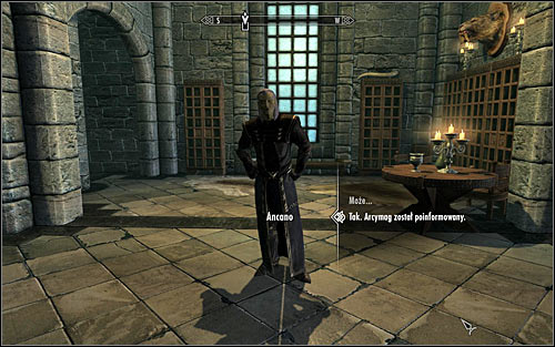 Turn around and try getting out of the Arcanaeum and you should come across Ancano, who Faralda might have spoken to you about (screen above) - Hitting the Books - p. 1 - College of Winterhold quests - The Elder Scrolls V: Skyrim Game Guide