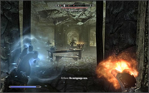 Before you leave this part of the Dungeons, you can take a look around the area to find, inter alia, a closed door with a locked chest containing some precious treasures behind it - Hitting the Books - p. 1 - College of Winterhold quests - The Elder Scrolls V: Skyrim Game Guide
