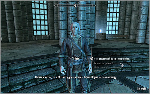In order to speak with Tolfdir, you luckily wont have to return to the excavation site, as in the meantime he should have returned to the College - Good Intentions - College of Winterhold quests - The Elder Scrolls V: Skyrim Game Guide