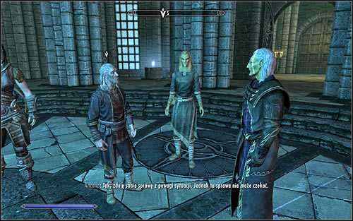 Tolfdir will now take a tour around the area and its definitely worth to listen to what he has to say - Good Intentions - College of Winterhold quests - The Elder Scrolls V: Skyrim Game Guide