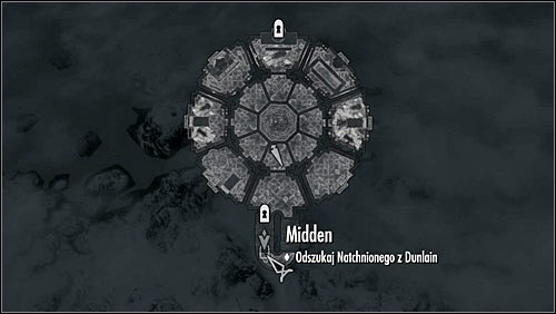 The second hatch is below the staircase in the Hall of Countenance (screen above) - Good Intentions - College of Winterhold quests - The Elder Scrolls V: Skyrim Game Guide