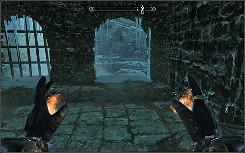 Depending on your liking, you can either explore the eastern part of the current location, or head south and jump to the lower level (screen above) - Good Intentions - College of Winterhold quests - The Elder Scrolls V: Skyrim Game Guide