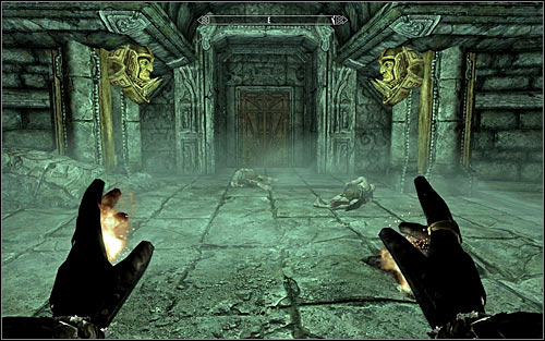 Go through the empty room inside which you quite surprisingly won't be attacked by anyone - Revealing the Unseen - p. 2 - College of Winterhold quests - The Elder Scrolls V: Skyrim - Game Guide and Walkthrough