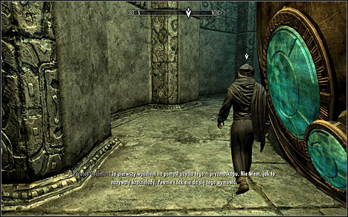 Follow Paratus, crossing the room with the large Oculory (screen above) - Revealing the Unseen - p. 2 - College of Winterhold quests - The Elder Scrolls V: Skyrim - Game Guide and Walkthrough