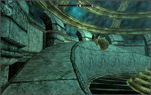 Use the path leading to the upper console (screen above) - Revealing the Unseen - p. 3 - College of Winterhold quests - The Elder Scrolls V: Skyrim - Game Guide and Walkthrough