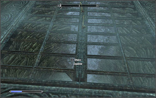 Open the metal gate and watch another scene with the ghosts of the dead Mages - Staff of Magnus - p. 2 - College of Winterhold quests - The Elder Scrolls V: Skyrim Game Guide