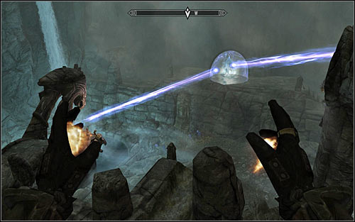 Whats interesting is that the boss wont be interested in you at the beginning, so you will be able to carefully plan your attack - Staff of Magnus - p. 3 - College of Winterhold quests - The Elder Scrolls V: Skyrim Game Guide