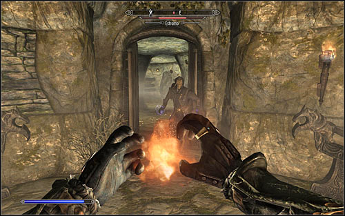 Move the bolt and open the new door - Staff of Magnus - p. 3 - College of Winterhold quests - The Elder Scrolls V: Skyrim Game Guide