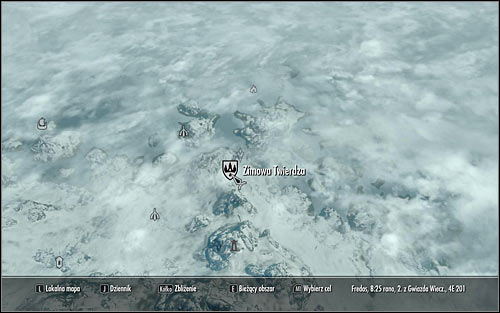 Open the world map and note that the College has disappeared from the list - Staff of Magnus - p. 3 - College of Winterhold quests - The Elder Scrolls V: Skyrim Game Guide