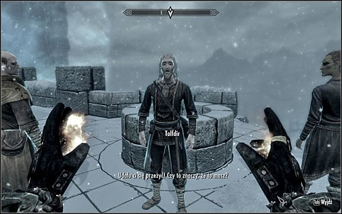 Eventually you should reach a place where the Mages are fighting with an Magic Anomaly - Staff of Magnus - p. 3 - College of Winterhold quests - The Elder Scrolls V: Skyrim Game Guide