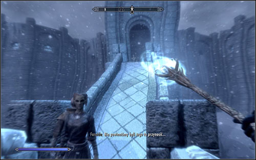Open the inventory, head to Weapons and set the Staff of Magnus as the active weapon - Eye of Magnus - College of Winterhold quests - The Elder Scrolls V: Skyrim Game Guide