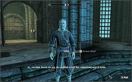 You can now search for Tolfdir and speak with him (screen above) - Eye of Magnus - College of Winterhold quests - The Elder Scrolls V: Skyrim Game Guide