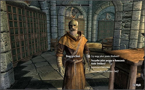 Don't worry that the quest ends, as Urag will need some time to transcript the contents of the book - Shalidors Insights - College of Winterhold quests - The Elder Scrolls V: Skyrim - Game Guide and Walkthrough