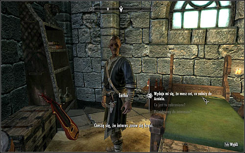 Enthir can be usually found onside one of the rooms at the Hall of Attainment - Arniels Endeavor - p. 1 - College of Winterhold quests - The Elder Scrolls V: Skyrim Game Guide