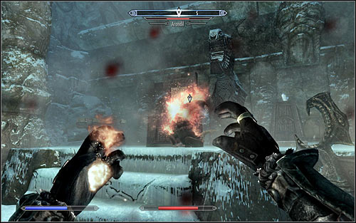 The Staff should be in possession of the strongest enemy occupying the chosen location (screen above) and unfortunately you have to reckon with the fact that he will have highly developed magic skills - Arniels Endeavor - p. 1 - College of Winterhold quests - The Elder Scrolls V: Skyrim - Game Guide and Walkthrough