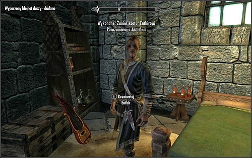 Return to the College of Winterhold and give the recently obtained Staff to Enthir, in return receiving the Warped Soul Gem (screen above) - Arniels Endeavor - p. 1 - College of Winterhold quests - The Elder Scrolls V: Skyrim Game Guide