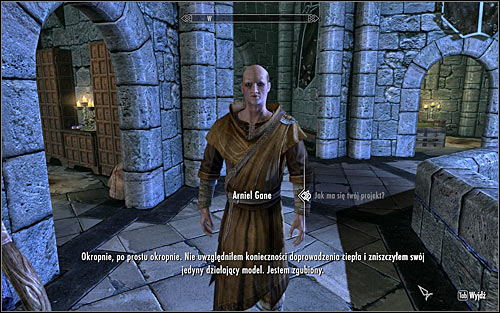 Depending on when you began Arniel's first quest, you will be able to approach the third quest at once or after a few days - Arniels Endeavor - p. 1 - College of Winterhold quests - The Elder Scrolls V: Skyrim - Game Guide and Walkthrough