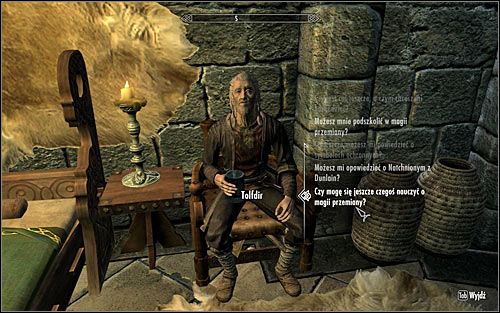 In order to activate this quest, you will have to find the mage known as Tolfdir and ask if he can teach you anything more regarding Alteration (screen above) - Alteration Ritual Spell - College of Winterhold quests - The Elder Scrolls V: Skyrim Game Guide