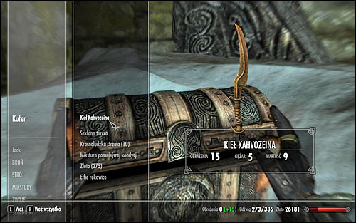 After the battle, examine the chest nearby the fallen boss, collecting the Kahvozeins Fang (screen above) - Alteration Ritual Spell - College of Winterhold quests - The Elder Scrolls V: Skyrim Game Guide
