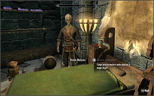 In order to activate this quest, you will have to find the mage Drevis Neloren and ask him if he can teach you anything more about Illusion (screen above) - Illusion Ritual Spell - College of Winterhold quests - The Elder Scrolls V: Skyrim - Game Guide and Walkthrough