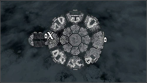 The second Master Illusion Text is at the upper floor of the Hall of Attainment, below a bench beside the stairs (screens above) - Illusion Ritual Spell - College of Winterhold quests - The Elder Scrolls V: Skyrim Game Guide
