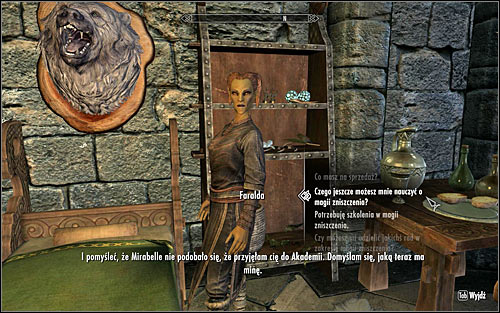 In order to activate this mission, you will have to find Faralda and ask her if she can teach you something more about Destruction magic (screen above) - Destruction Ritual Spell - College of Winterhold quests - The Elder Scrolls V: Skyrim - Game Guide and Walkthrough