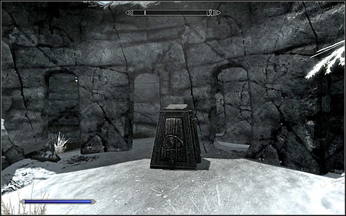 After reaching the destination, make sure there aren't any wild animals in the area and find the pedestal (screen above) - Destruction Ritual Spell - College of Winterhold quests - The Elder Scrolls V: Skyrim - Game Guide and Walkthrough