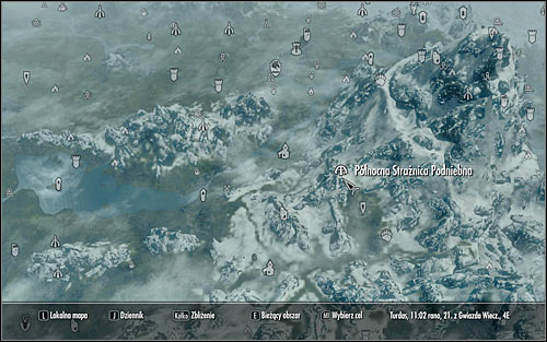 Open the world map once again - Destruction Ritual Spell - College of Winterhold quests - The Elder Scrolls V: Skyrim - Game Guide and Walkthrough