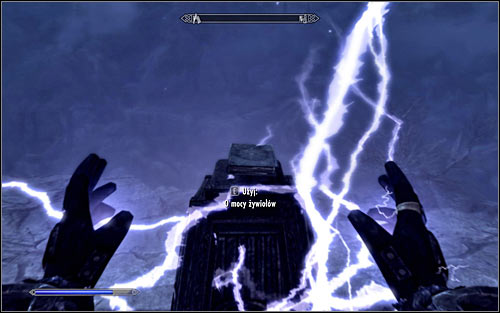 In this case you will have to use a lightning spell, for example Sparks or Chain Lightning (Destruction), aiming at the book (screen above) - Destruction Ritual Spell - College of Winterhold quests - The Elder Scrolls V: Skyrim - Game Guide and Walkthrough