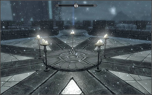 In accordance with the information received from Phinis, head to the Hall of Attainment and use the stairs to reach the very top of the tower - Conjuration Ritual Spell - College of Winterhold quests - The Elder Scrolls V: Skyrim Game Guide