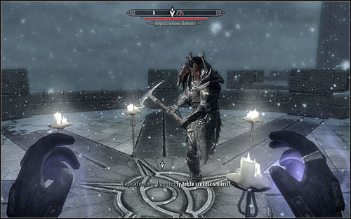 If you do everything properly, the Unbound Dremora should appear - Conjuration Ritual Spell - College of Winterhold quests - The Elder Scrolls V: Skyrim Game Guide