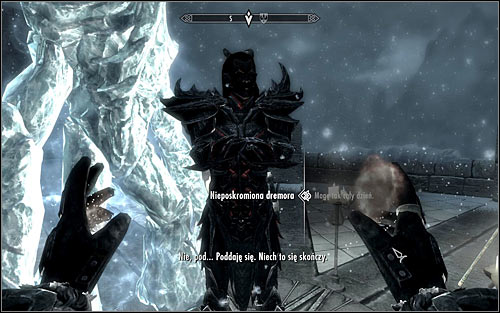 As you have probably guessed, you will need to Summon Unbound Dremora once again and speak with it - Conjuration Ritual Spell - College of Winterhold quests - The Elder Scrolls V: Skyrim Game Guide