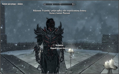 Wait for the Dremora to disappear and once again summon it - Conjuration Ritual Spell - College of Winterhold quests - The Elder Scrolls V: Skyrim Game Guide