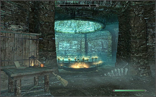 The Sigil Stone that you got from Phinis (and previously from the Dremora) is quite important, as you can use it at The Atronach Forge found in the Midden (screen above) to create the most powerful and precious items - Conjuration Ritual Spell - College of Winterhold quests - The Elder Scrolls V: Skyrim Game Guide