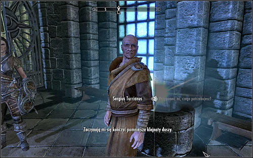 Find Sergius Turrianus (hes usually on the main square or at the Hall of the Elements) and ask if he doesnt need your help with anything - Miscellaneous: Restocking Soul Gems - College of Winterhold quests - The Elder Scrolls V: Skyrim Game Guide