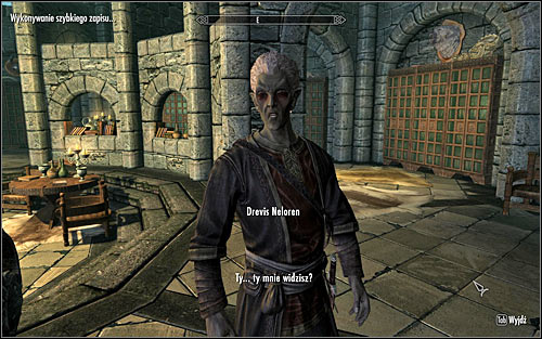 Find Drevis Neloren (screen above) who should be travelling through various College rooms, including the main square, Hall of the Elements and Arcanaeum - Miscellaneous: Out of Balance - College of Winterhold quests - The Elder Scrolls V: Skyrim Game Guide