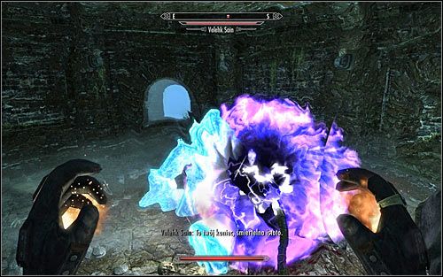 Wait for Velekh Sain, surprised that you were able to break the binding spell, to appear - Miscellaneous: Daedric Relic - College of Winterhold quests - The Elder Scrolls V: Skyrim - Game Guide and Walkthrough