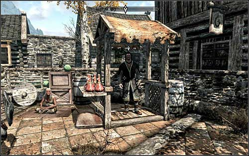 Head out of The Bee and Barb and stay at the Riften main square - A Chance Arrangement - Thieves Guild quests - The Elder Scrolls V: Skyrim Game Guide