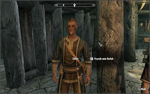 Enthir will tell you that the journal was written in the language of Falmers and only the scholars of Markart are capable of understanding it - Hard Answers - Thieves Guild quests - The Elder Scrolls V: Skyrim Game Guide