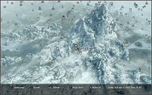 Open the world map and locate your destination, the Orphan Rock (screen above) - The Blessings of Nature | Side quests - Side quests - The Elder Scrolls V: Skyrim Game Guide