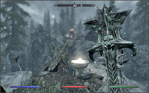 Before reaching the destination, you will be attacked by magic-using witches, though theyre not very resistant and as a result should die easily - The Blessings of Nature | Side quests - Side quests - The Elder Scrolls V: Skyrim Game Guide
