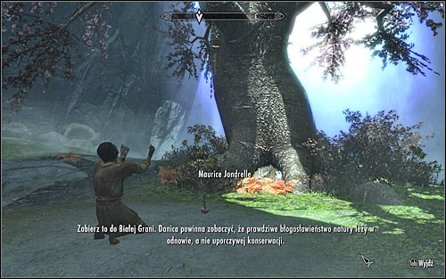 If Maurice accompanied you to the grove, you will be able to speak to him now - The Blessings of Nature | Side quests - Side quests - The Elder Scrolls V: Skyrim Game Guide