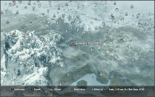 Open the world map and head to Hillgrunds Tomb found in the eastern part of Skyrim (screen above) - Ancestral Worship | Side quests - Side quests - The Elder Scrolls V: Skyrim Game Guide