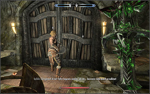 Wait for Golldir to open the passage and use the door leading inside Hillgrunds Tomb - Ancestral Worship | Side quests - Side quests - The Elder Scrolls V: Skyrim Game Guide