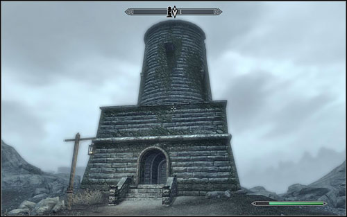Head to the top of the tower and approach the large fire burning in the middle - Lights Out | Side quests - Side quests - The Elder Scrolls V: Skyrim Game Guide