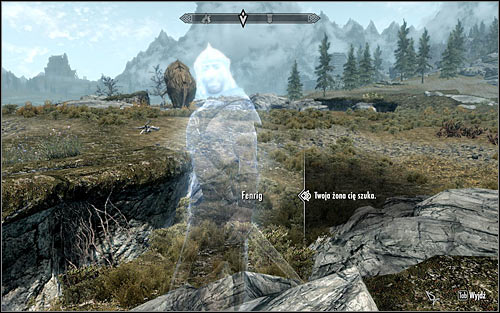 Once again open the map to establish that Fenrig can be found north-east from where you are - The Book of Love | Side quests - Side quests - The Elder Scrolls V: Skyrim Game Guide